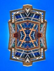Centered   Architecture Remixed (scott_prestridge) Tags: blue sky building window glass architecture facade square mirror dc remix symmetry squareformat symmetric symmetrical normal iphoneography instagramapp uploaded:by=instagram architectureremixed