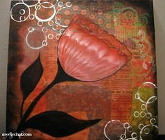 Jan-15 2012 (AureliaArt) Tags: collage mixedmedia mixedmediaoncanvas diycollageart mixedmediaflower diyfunart mixedmediatechniques