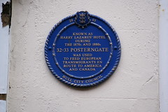 Photo of Harry Lazarus' Hotel, Hull blue plaque