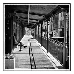 Saint Maixent- Perspectives (argazkilari 64- No multi invit please) Tags: bw 6x6 square solitude pentax nb march mtal 79 carr saintmaixent marchsancienshalles rememberthatmomentlevel1 rememberthatmomentlevel2