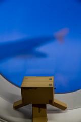 Awesome views Danbo (*(Ian)* - Ian Howard) Tags: japan toy flight danbo danboard