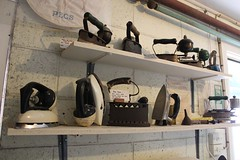 Collection of old irons at Stansbury Museum (Community History SA) Tags: history museum south australia laundry local southaustralia stansbury iorn yorkpeninsula stansburymuseum