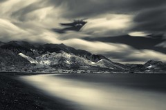 Clouds at Play (McSnowHammer) Tags: new mountains beach clouds silver ir long exposure waves zealand infrared pro kaikoura efex nd110