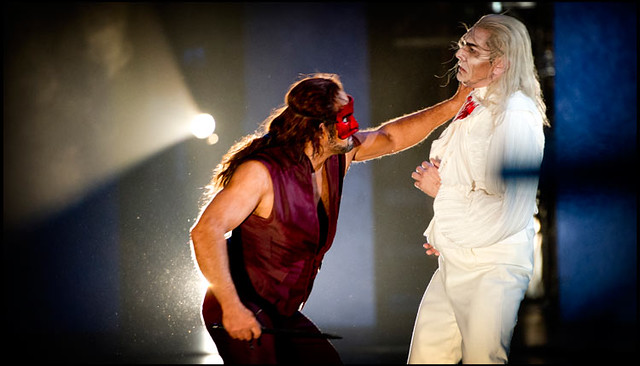"Gerald Finley and Marco Spotti in Francesca Zambello's Don Giovanni at The Royal Opera.  The Royal Opera season 2011/12. <a href=""http://www.roh.org.uk"" rel=""nofollow"">www.roh.org.uk</a> Photo: Sim Canetty-Clarke"