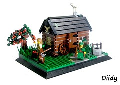 Hunters Log Cabin (FilipS) Tags: castle log cabin lego dio diorama hunters moc jger diidy