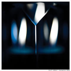 BLUE CANDLE (Denis F...) Tags: blue fire candle bleu flame flamme feu bougie