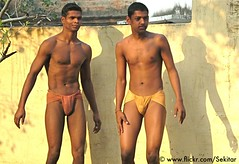 Kushti Wrestlers at Tulsi Ghat Akhara, Varanasi (Sekitar) Tags: shirtless india man male men varanasi wrestler tulsi ghat akhara kushti langoti