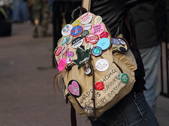 Occupy DC Backpack (Mr.TinDC) Tags: washingtondc dc buttons protest pins backpack dcist protesters freedomplaza occupydc