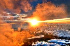 Majestic Sunrise from the Summit of Mount Fuji (Sprengben [why not get a friend]) Tags: world china city winter summer sky music 3 art berg japan clouds sunrise observation lights volcano tokyo