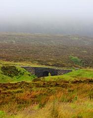 The Fairy Bridge on a misty morning (colin.smith18) Tags: morning bridge mist skye scotland heather peat fairy moor moorland fairybridge