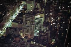 New York (ニノ Nino) Tags: above new york city nyc urban building film skyline analog 35mm observation lights cityscape view state manhattan spiderman center deck empire rockefeller gotham 35