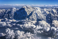 How Can This Be Real?! (TranceVelebit) Tags: china above nepal mountain snow mountains ice clouds snowy aerial tibet cumulus glaciers himalaya annapurna glacial massif himalaja i