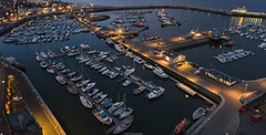 ramsgate harbour from above (dazzlers82) Tags: sea seascape night boats nightlight ramsgate dji