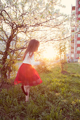 IMG_7248 (D-Ulia) Tags: city flowers sunset sun streets girl smile kids backlight fun spring twilight little blossom bokeh walk backlit walkaround bycicle