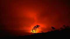 A Night in Lava Light (Kevin Benedict Photography) Tags: travel trees storm hot tree silhouette night landscape flow volcano hawaii lava nationalpark nikon glow close cloudy smoke low steam crater caldera heat bigisland hilo volcanoes volcanic erupt eruption kilauea halemaumau molten plume maunaloa flank photobenedict