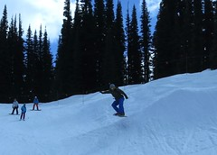 Rob gets air (Ruth and Dave) Tags: park whistler snowboarding jump rob hip snowboarder terrainpark whistlerblackcomb