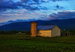Loved One's Back Home All Cryin Cause They're Already  Missing Me (raymondclarkeimages) Tags: blue sky usa mountains green clouds farmhouse canon landscape photography photographer outdoor silo hills land range 6d rci imageof pictureof picof raymondclarkeimages 8one8studios 50mm18stm