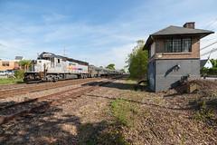 Speed Stripes on the County (sullivan1985) Tags: county new railroad tower speed train stripe nj line transit jersey bj express passenger bergen westbound rutherford njt emd electromotive gp40ph2b njtr