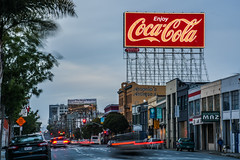 enjoy coca-cola 516 (pbo31) Tags: sanfrancisco california city blue red urban color sign giant spring nikon traffic infinity ad may billboard company bayarea cocacola soma roadway bryantstreet 2016 lightstream boury pbo31 d810