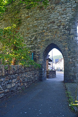 arch (Lord Edam) Tags: world sun castle heritage water wall river site arch stones medieval conwy cstle