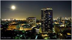 Moonlight I (lukiassaikul) Tags: nightphotography landscape cityscape buildings sky nightsky architecture moon moonlight