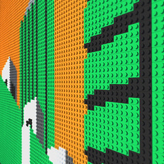 LEGO Barbican No. 3 Orange close up (daveh_design) Tags: art architecture lego wallart brutalism afol brutalistarchitecture legoart legomoc legomosaic