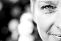 Sabine... (lichtflow.de) Tags: portrait bw eye face canon gesicht outdoor portrt ef50mmf14 sw sabine garten auge blten eos5dmarkiii canonflickraward