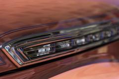 Salmon Details (HK Passey) Tags: orange cars metal silver reflections lights details chrome transportation automobiles vintageautos salmoncolor bokehwhores