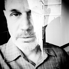 deep within the corners of my mind (Super G) Tags: blackandwhite bw selfportrait brick wall square doubleexposure cellphone vignette scs nolayers incameradoubleexposure notextures selfcenteredsunday