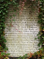 18thC gravestone (helenoftheways) Tags: uk london gravestones parker oxley pottersfields 18thcgrave