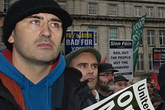 Anti- austerity demonstration, Dublin, Ireland (2)