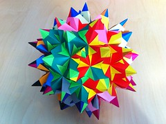 Bascetta Star Rhombicosidodecahedon (Paolo Bascetta) (Martin's Origami) Tags: 120 paper star origami martin crafts craft modular easy martins assembly unit kusudama rhombicosidodecahedron bascetta