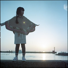 Sunset at hometown (Kannnnaaa) Tags: hasselblad 500c 160nc selfdevelopment naniwacolorkits