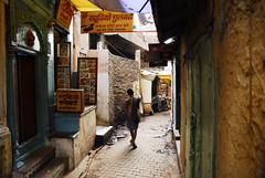 Random 27-11-11 (Amar Lalta) Tags: street people india man walking photography one photo blog day religion varanasi narrow amar ghats banaras lalta