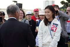 Charles Bolden and Clara Ma