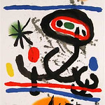 "<b>Untitled</b><br/> Joan Miro(1893-1983) -untitled- Lithographic Poster, 1961 LFAC #1994:04:08<a href=""//farm8.static.flickr.com/7161/6438568563_0332113546_o.jpg"" title=""High res"">&prop;</a>"