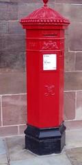 Chester Post Box (DizDiz) Tags: uk england cheshire chester olympusc720uz countytown octagonalpillarbox