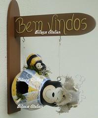 casinha abelhinha com filhote (BILUCA ATELIER) Tags: gourds bees ladybugs cabaas pinturacountry porongos homebirds biluca casinhasdepassarinho