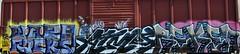 Warp, Atmos, Reken (nunya...nunyabusiness) Tags: art train graffiti paint graf tracks warp spraypaint muzik atmos reken