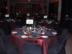 Red and Black Wedding Decor (So Handy) Tags: christmas wedding corporate setup decor gala redblack blacknapkin handyspecialevents handymanrentals reddazzlecloth blackspandexchaircover