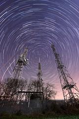 Radioactivity IV (quornflake) Tags: longexposure night radio stars mast startrails starstax