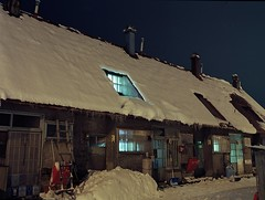 Houses for coal mine workers (threepinner) Tags: winter light house mamiya japan evening mine hokkaido north 100mm negative   coal   yayoi hokkaidou mikasa ektar  selfdevelopment northernjapan sekor  m645 stoeckler    gettyimagesjapanq4 housesforcoalminers