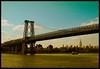 Williamsburg Bridge [Nostalgic Tone] (Yohsuke_NIKON_Japan) Tags: nyc bridge usa newyork skyline pen river boat manhattan olympus esb eastriver williamsburg nostalgic アメリカ ニューヨーク nywaterway オリンパス colorefex イーストリバー microforthirds epl2