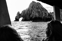 The Arch (David's_silvershots) Tags: bw cliff beach mexico scary cabo arch fuji conversion rangefinder cliffs landsend finepix fujifilm nik fujinon cabosanlucas seasick x100 roughocean silverefex