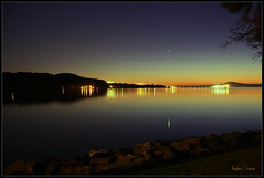 One Outshines Them All [Explored] (Morrow Cove) Tags: california usa reflection water canon reflections dark campus landscape eos glow photographer unitedstates shoreline scenic scene shore reflective vallejo strait mounttam waterscape carquinez sanpablobay 60d calmaritime californiamaritimeacademy