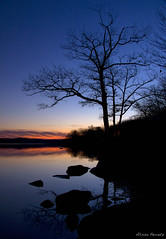 IMG_6781 (stars & rockets) Tags: blue trees winter sunset red lake newyork color reflection sevenlakesdrive