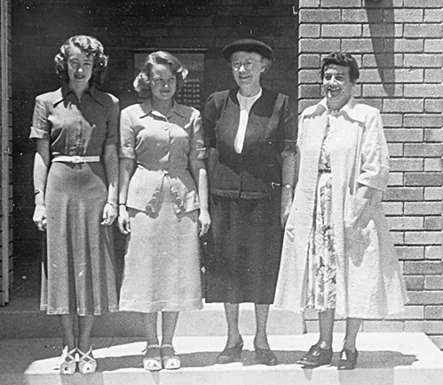 Gosford Library staff at time of opening, 3rd December 1951