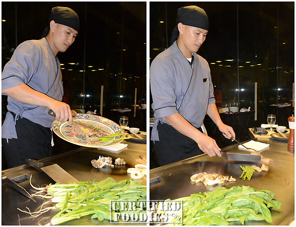 Chef Bibong started preparing our food