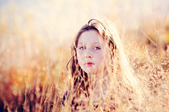 Golden (A. Spence) Tags: autumn light portrait sun smile canon bokeh naturallight 2011 littleonews