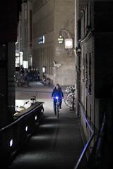 Blue light (AxelN) Tags: light bicycle night licht nacht cycle blau nordrheinwestfalen fahrrad mnster dunkel westfalen fahrradfahrer fahrradfahrerin